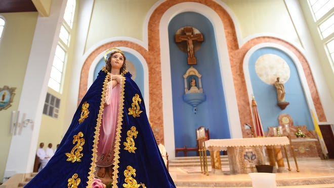 In this file photo, the Santa Maria Kamalen statue at the Dulce Nombre de Maria Cathedral-Basilica.