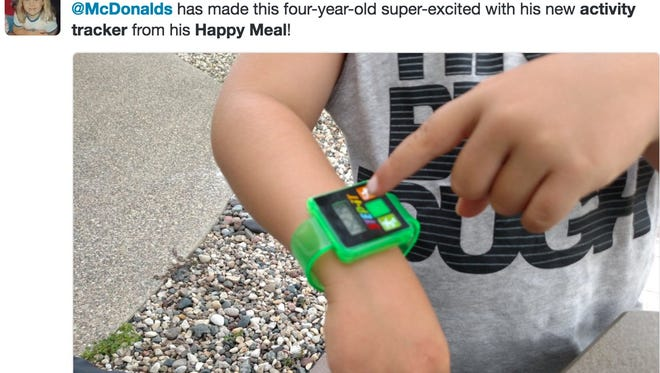 For a limited time, McDonald's is giving away a fitness tracker with every Happy Meal.