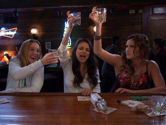 Kristen Bell (from left), Mila Kunis and Kathryn Hahn