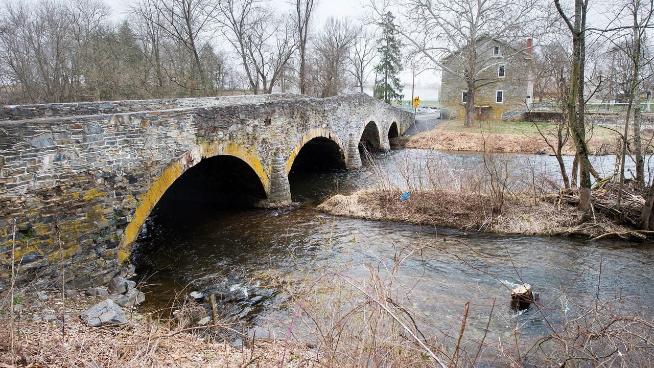 Six historic bridges on the Yellow Breeches Creek connecting York and Cumberland counties are in various states of repair. One bridge was built in 1877.