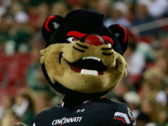 Cincinnati Bearcats mascot during the second half of