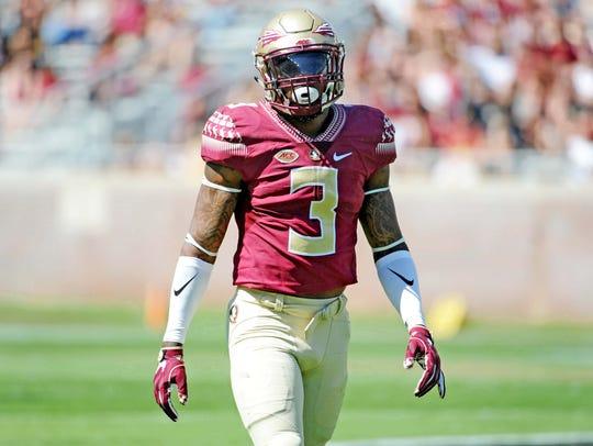 Florida State defensive back Derwin James (3) during