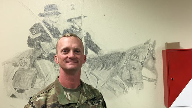 Command Sgt. Maj. Chris Kohunsky has been the senior enlisted leader for 2nd Squadron, 13th Cavalry Regiment for the past two years. He relinquishes the position Dec. 5.