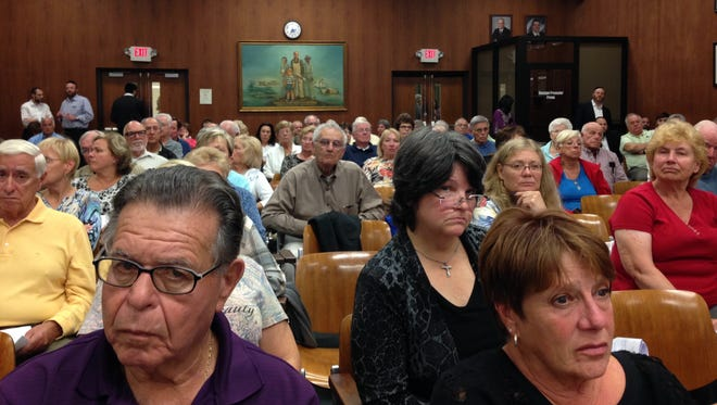 Approximately 120 residents from nearby adult communities turned out to the Lakewood Planning Board meeting Oct. 13 to protest a newly approved 96-unit subdivision.