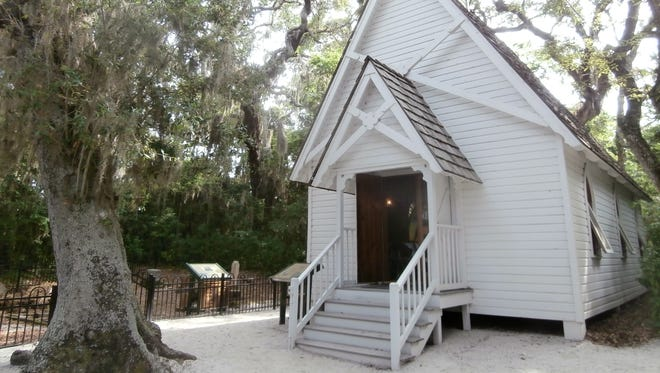 Mary's Chapel at Historic Spanish Point in Osprey dates back to 1894.