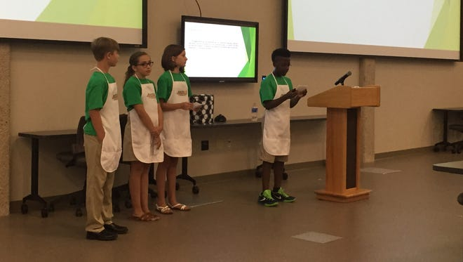Members of the BEP Summer Camp's Juiced Up team presented their business plan to a panel of judges on Friday at Middle Tennessee State University.