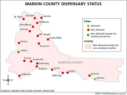 MAP Marion Co Dispensary Status secondary