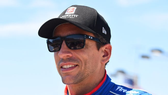 Jul 18, 2015: IndyCar Series driver Justin Wilson (25) during qualifying for the Iowa Corn 300 at Iowa Speedway.