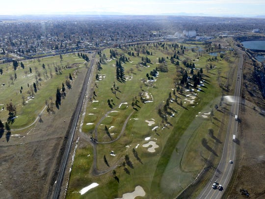 Eagle Falls Golf Course, aerial photo, November 1, 2013.