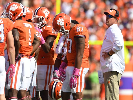 Clemson student coach Bill Spiers is the second of three generations to play for the Tigers, after his dad, William 'Bud' Spiers, and before his son, Will.