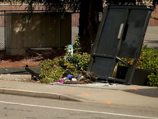 The scene of the crash in which Maggie Parnel was killed
