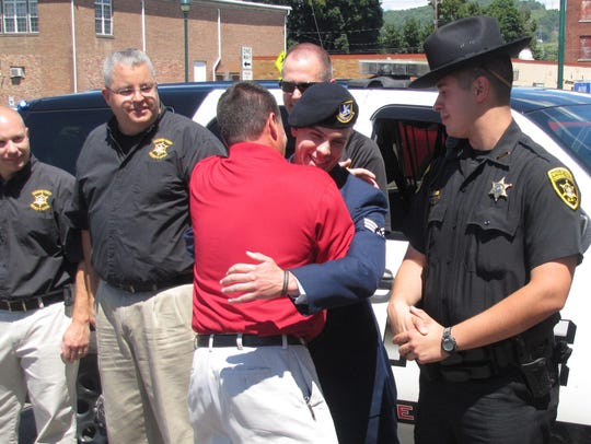 Elmira Deputy Police Chief Joseph Kain had a surprise