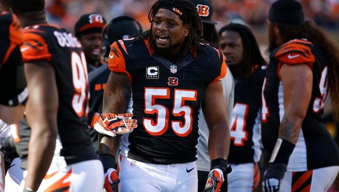 Bengals linebacker Vontaze Burfict during Sunday's win against Baltimore.