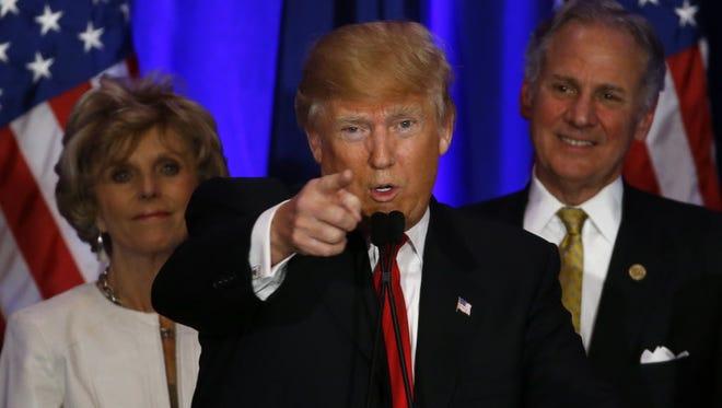 Donald Trump campaigns in Spartanburg, S.C., on Feb. 20, 2016.