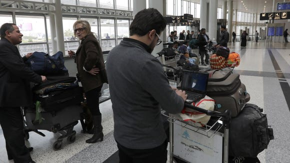 A Syrian passenger travelling to the United States