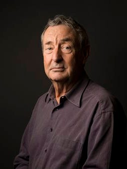 """This photo shows Pink Floyd drummer Nick Mason posing for a portrait to promote the band's newest album """"The Endless River"""" in New York."""