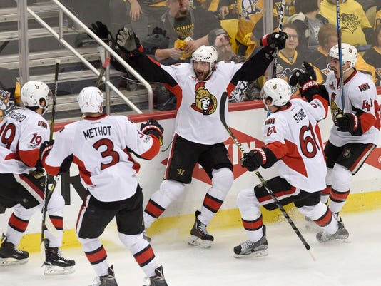 USP NHL: STANLEY CUP PLAYOFFS-OTTAWA SENATORS AT P S HKN PIT OTT USA PA