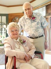 Les and Marylou Green celebrate their 65th wedding anniversary at the house where they had their wedding reception in 1949.