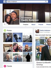 This is Cedric Anderson's Facebook page which is now a legacy page.