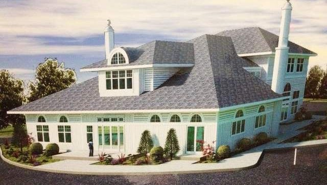 Rendering of the proposed mosque for the Liberty Corner section of Bernards.