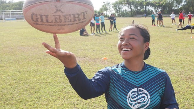 Southern High Dolphins senior Kimberly Malalis was MVP of the high school rugby league in 2015. She's hoping her team can turn that play into a championship this year.