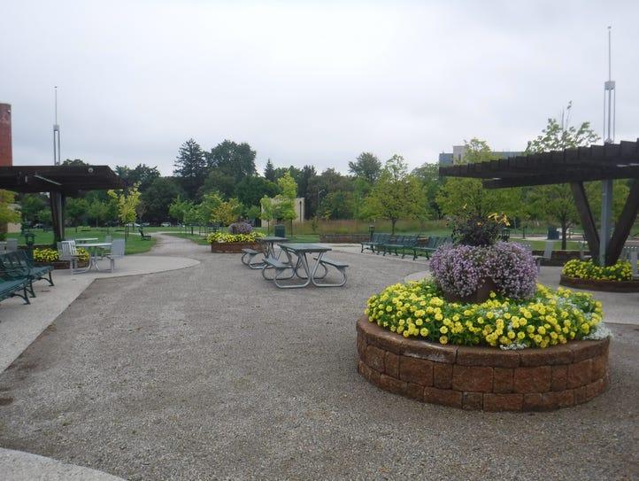The regrading and enhancement work at Barnum Park (Pierce