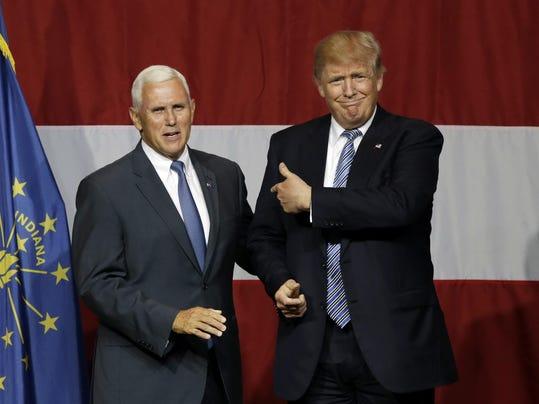Donald Trump. Mike Pence