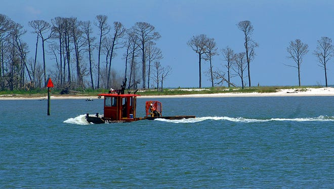 Deer Island is located just offshore from Biloxi in Harrison County.