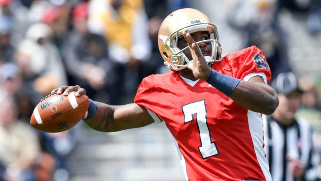 Junior Brandon Wimbush is the unquestioned starter for the Irish.