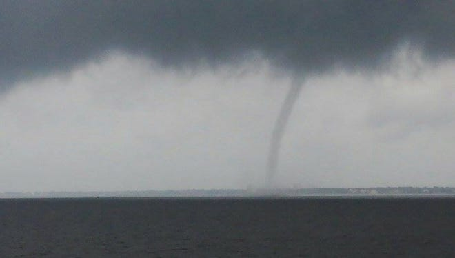 A waterspout was sighted Saturday morning in Pensacola Bay.
