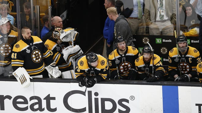 Bruins players still remember the terrible feeling they had while watching St. Louis players celebrate a Stanley Cup win last season.