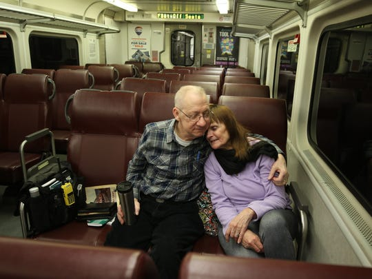 Every week for the last six years, Steve and Denise Thorpe of Metuchen have spent their Friday nights riding an NJ Transit train through Bergen and Passaic counties to Port Jervis, New York, and back.