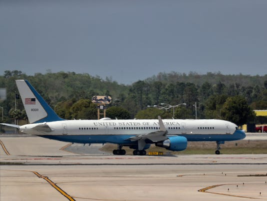 Air Force Two lands at RSW