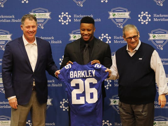 Giants introduce Saquon Barkley