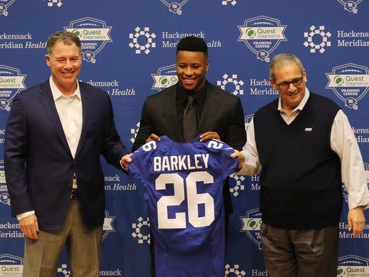 Giants introduce Saquon Barkley