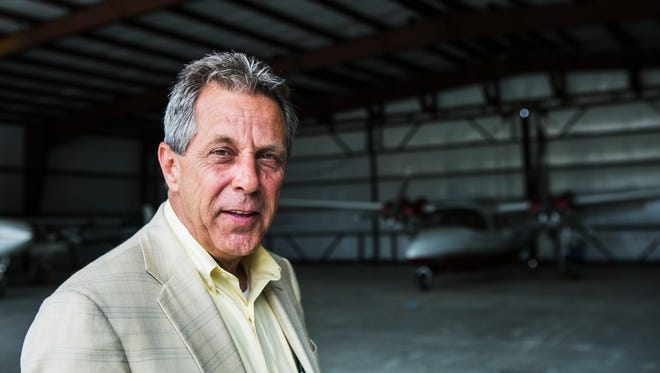 May 12, 2017 - Tom Ferguson poses for a portrait at the Eagles Ridge Airport on Friday. Ferguson, a political newcomer, is Hernando's mayor-elect and will be sworn into office in early July.
