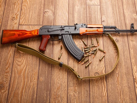 Kalashnikov assault rifles with ammunition