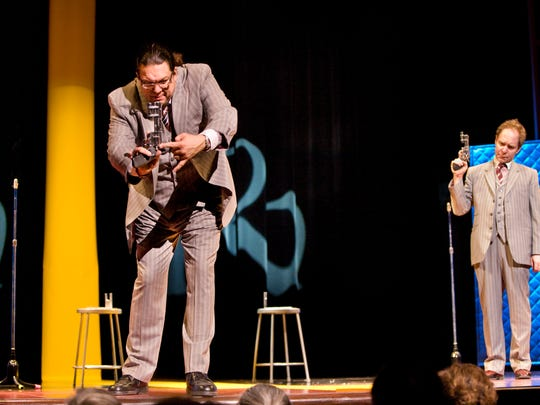 """Penn and Teller feature a famed """"bullet catch"""" trick as part of their show at the Rio in Las Vegas."""