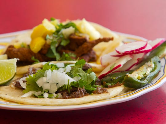 Tacos from Tortilleria La Rancherita.