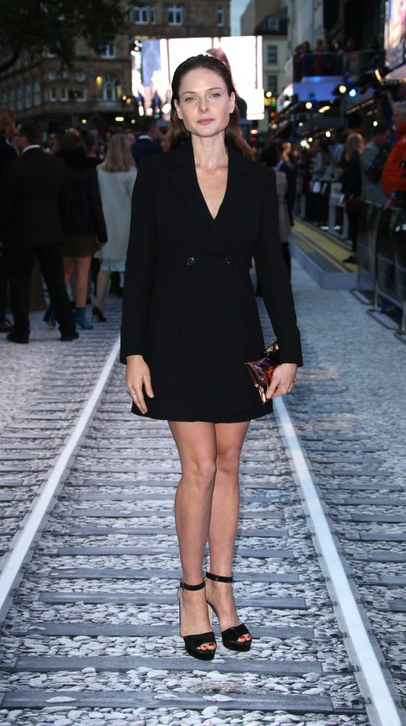 Forget The Standard Carpet Girl On The Train Premiere
