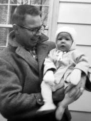 The writer with her father, Jim Weimer, in 1961.