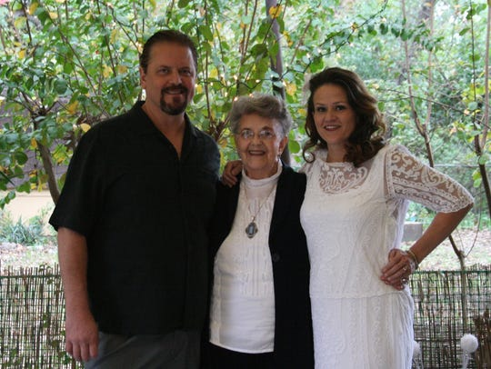 Jimmy Sinclair, his mother, Yvonne; and his wife, Heather