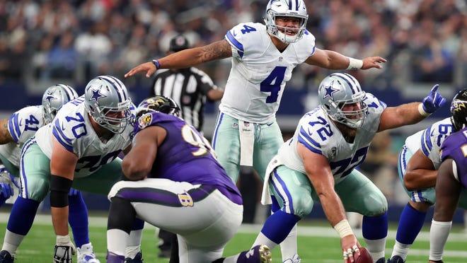 Dallas quarterback Dak Prescott (4) and the Cowboys will aim to brush off last season's 8-8 record.