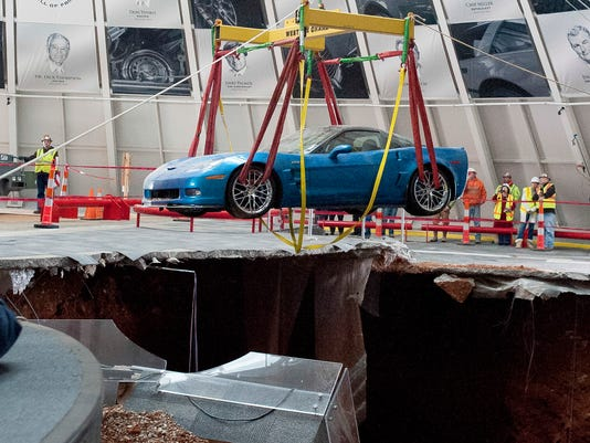 2 of 8 Corvettes emerge from sinkhole at Ky  museum