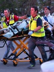 Authorities move Sergio Valencia del Toro to an ambulance