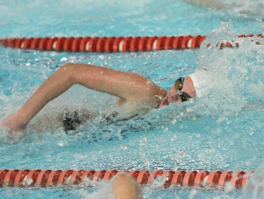 Lexington's Alivia Merkel is part of a 200 medley relay