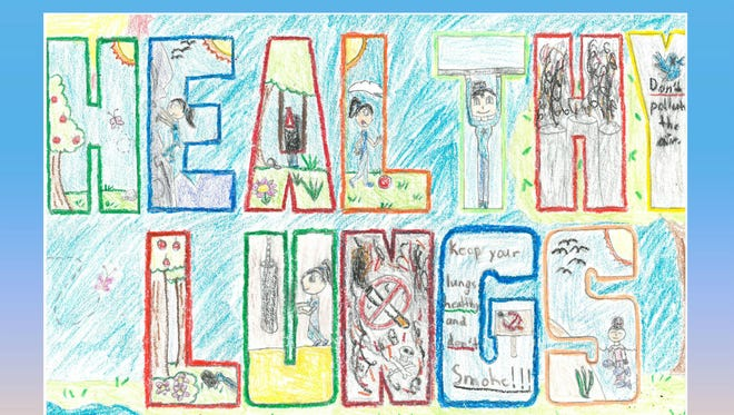 Calendar cover artwork by Angel Fernandez, fourth-grader at the School of Arts and Sciences.