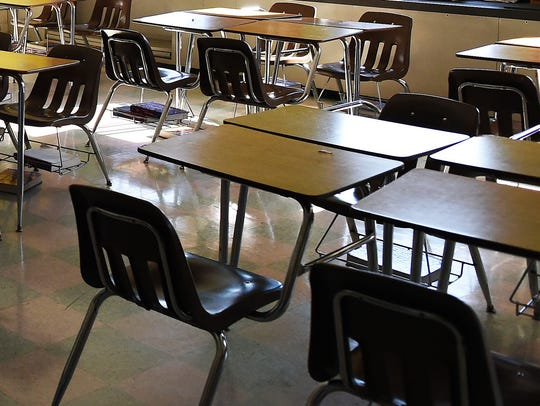 A classroom is shown in this file photo.