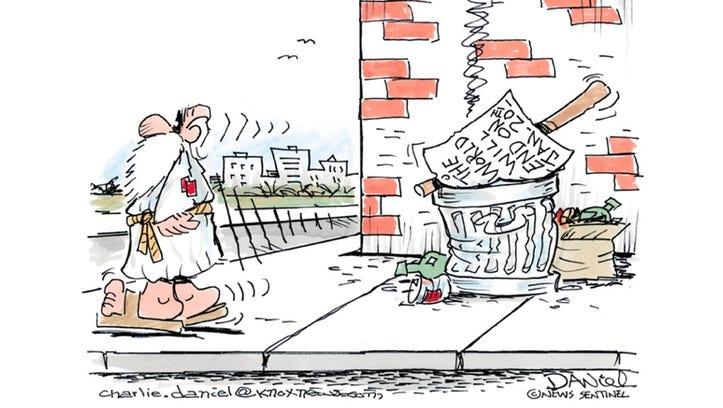 Charlie Daniel's editorial cartoon for Monday, Jan.