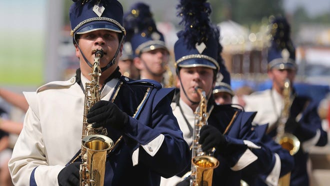 Mooresville High School band members performed during the annual competition at the State Fair.